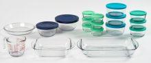 Anchor Hocking 32-Piece Glass Bakeware & Storage Set Only $20 at Walmart