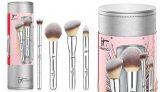 IT Cosmetics Brush Set 5-Piece with Travel Case $27!