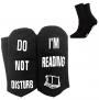 'Do Not Disturb I'm Reading' Funny Socks $3.49 (was $6.99)